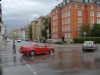 Esős napra ébredt a város